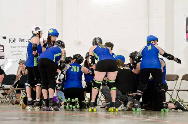 The CRDA All-Stars donned numbers, with no names, at Redneck Rumble this past June. Photo courtesy of Rob Vida Photography.