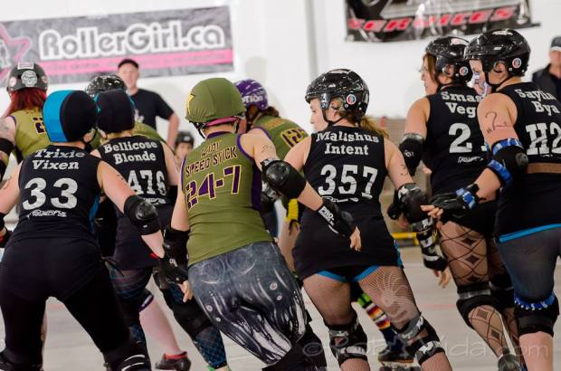 Sakter names are often very personal to a derby athlete and many wear them with pride. Photo courtesy of Rob Vida.