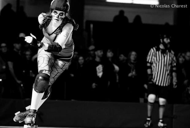 """With derby there is a desire to be the best possible player I can be."" Photo by Nicolas Charest for www.rollergirl.ca."