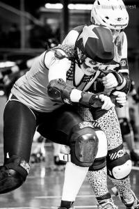 """Always move forward."" Photo by Nicolas Charest for www.rollergirl.ca."
