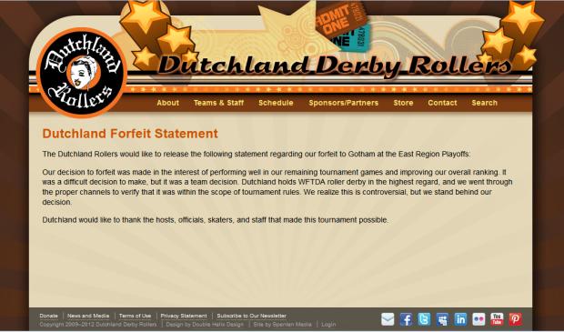 WFTDA Forfeit Dutchland